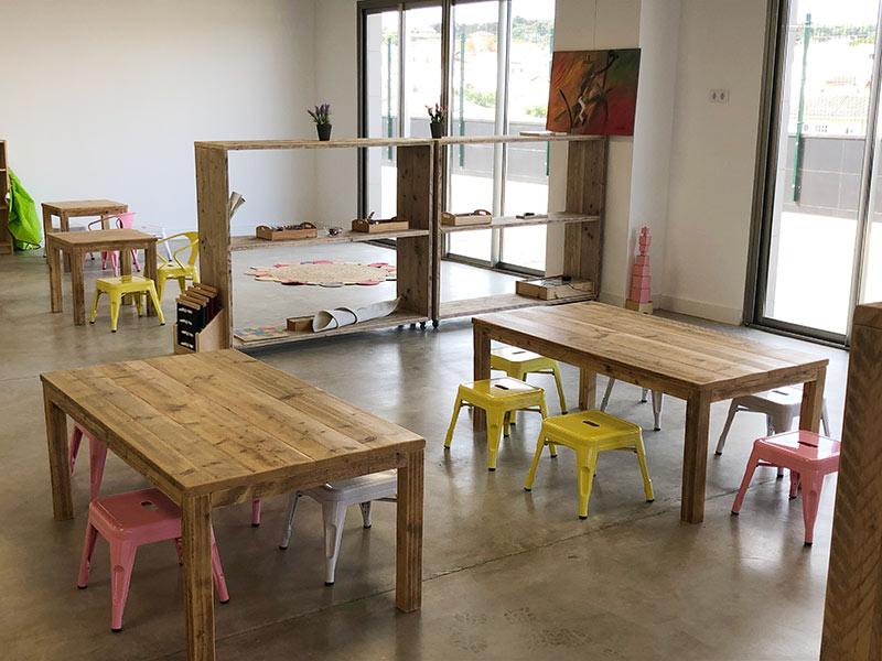 Proyecto a medida en madera colegio Montessori