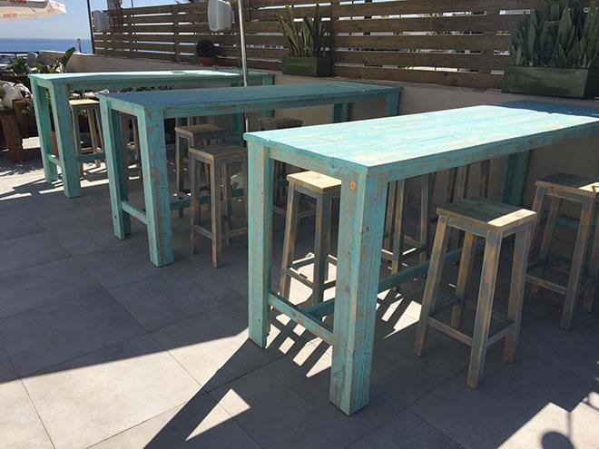 mesas de madera a medida para bar restaurante